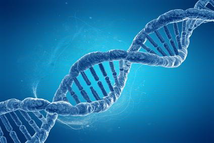 DNA-Spindel blau