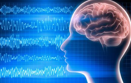 Symboldarstellung Gehirn und Elektroenzephalogramm