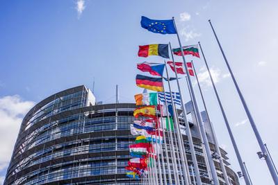 Außenansicht des Europäischen Parlaments