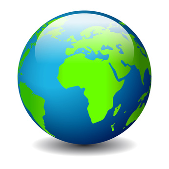 Symboldarstellung einer Weltkugel