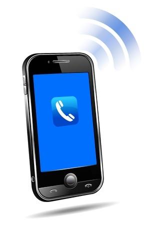 Smartphone mit Strahlungssymbol