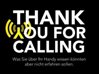 Logo Thank You for Calling schmal